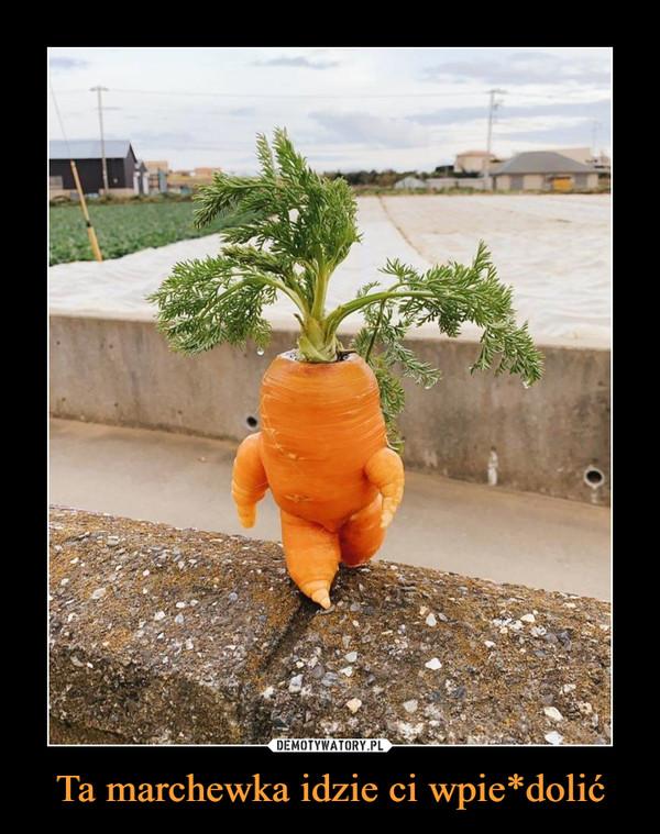 Ta marchewka idzie ci wpie*dolić –