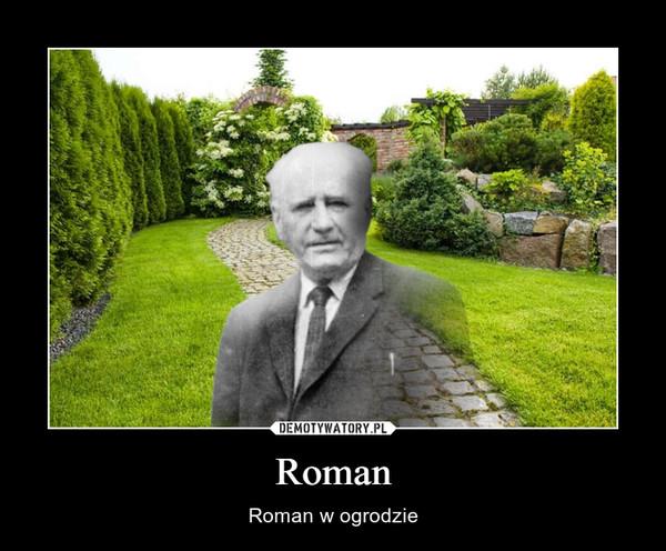 Roman – Roman w ogrodzie