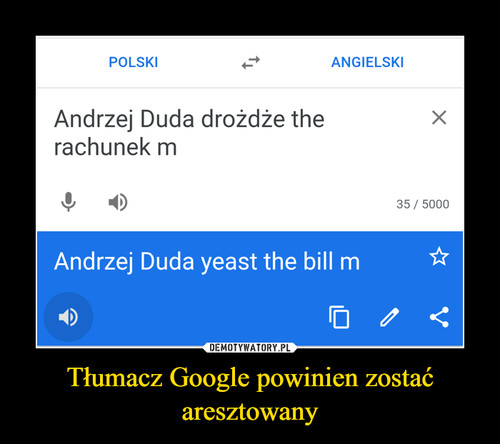 Tłumacz Google powinien zostać aresztowany