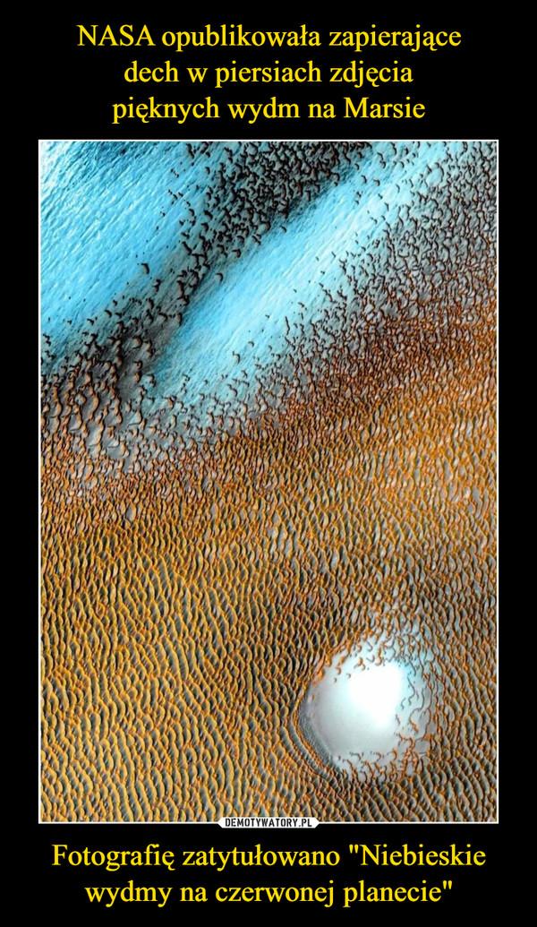"""Fotografię zatytułowano """"Niebieskie wydmy na czerwonej planecie"""" –"""