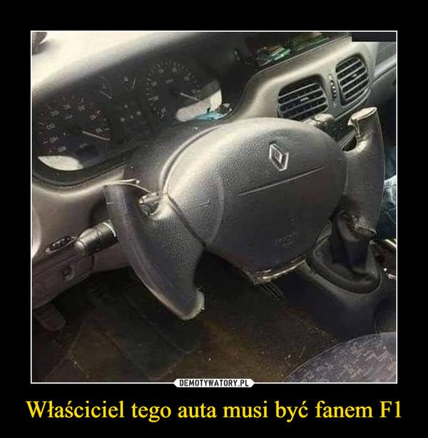 Właściciel tego auta musi być fanem F1