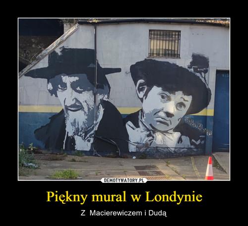 Piękny mural w Londynie