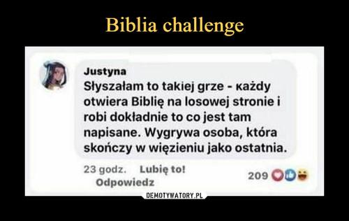 Biblia challenge
