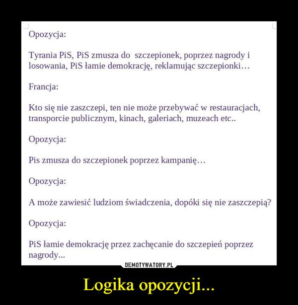 Logika opozycji... –