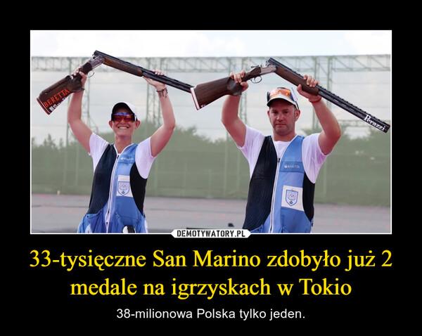 33-tysięczne San Marino zdobyło już 2 medale na igrzyskach w Tokio – 38-milionowa Polska tylko jeden.