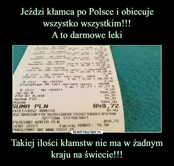 Takiej ilości kłamstw nie ma w żadnym kraju na świecie!!! –