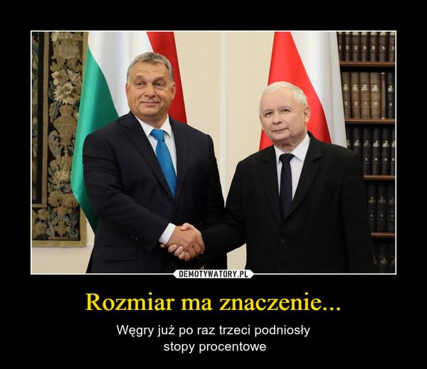 Rozmiar ma znaczenie... – Węgry już po raz trzeci podniosły stopy procentowe