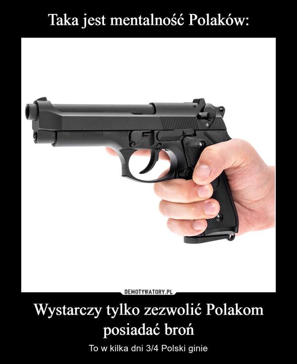 Wystarczy tylko zezwolić Polakom posiadać broń – To w kilka dni 3/4 Polski ginie